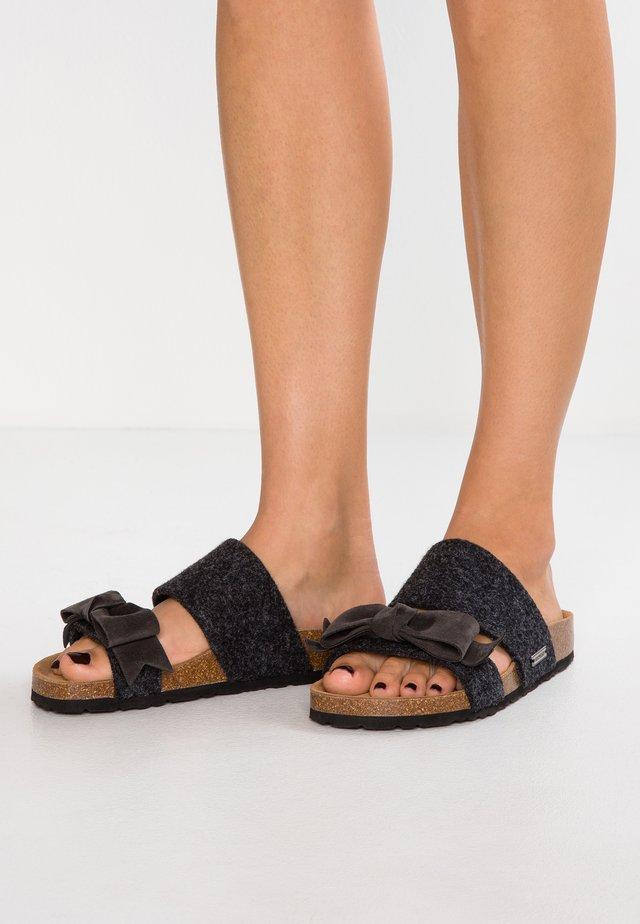 ELISABET - Slippers - black/graphite