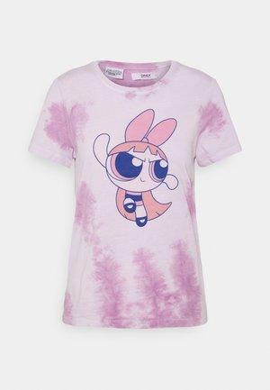 ONLPOWER PUFF - T-shirt imprimé - white/pink tie dye