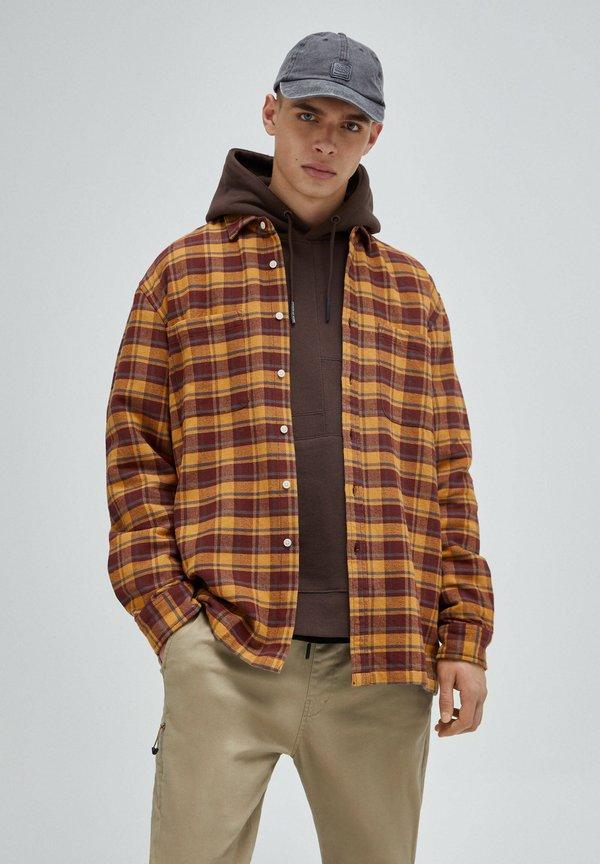PULL&BEAR Koszula - mottled brown/brązowy melanż Odzież Męska KBQZ