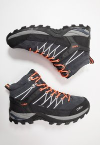 CMP - RIGEL MID TREKKING SHOES WP - Hiking shoes - antracite/flash orange - 1