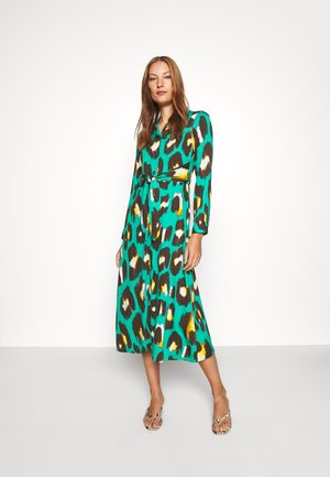 TIE WAIST DRESS - Shirt dress - green