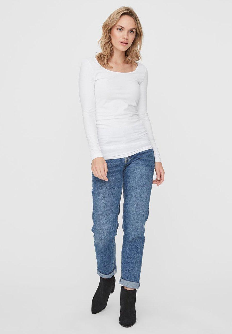 Donna 2PACK - Maglietta a manica lunga - bright white
