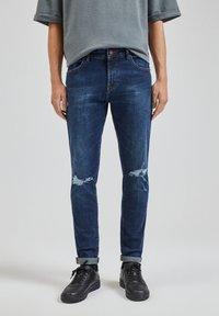 PULL&BEAR - Slim fit jeans - dark blue - 0