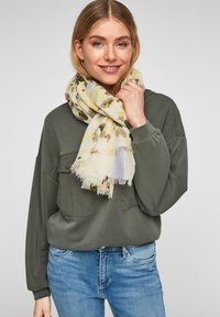 s.Oliver - MIT MUSTERMIX - Scarf - offwhite placed print - 1