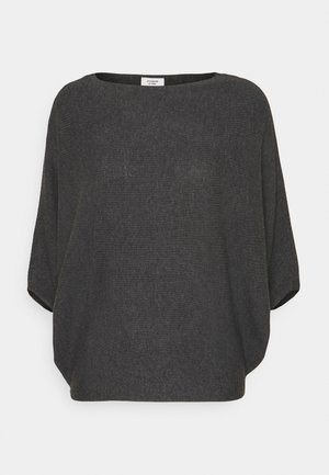 JDYNEW BEHAVE BATSLEEVE - Strikkegenser - dark grey melange