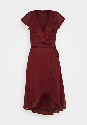 DASHING FLOUNCE DRESS - Vestido de cóctel - burgundy