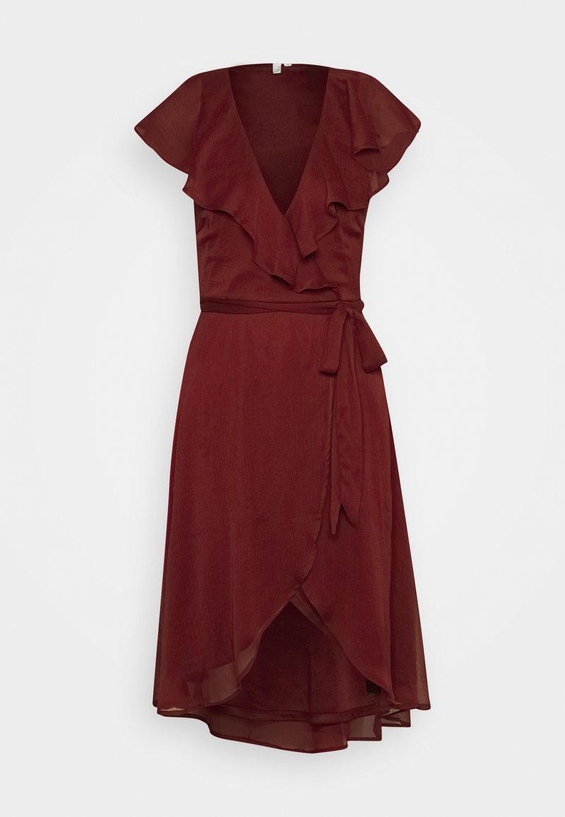 Nly by Nelly - DASHING FLOUNCE DRESS - Cocktail dress / Party dress - burgundy