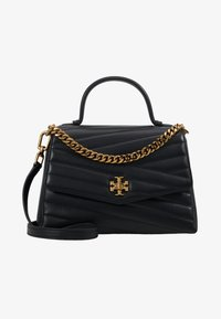 Tory Burch - KIRA CHEVRON TOP HANDLE SATCHEL - Torebka - black - 5