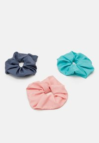 Weekday - SCRUNCHIE 3 PACK - Hair styling accessory - green/grey/pink - 0