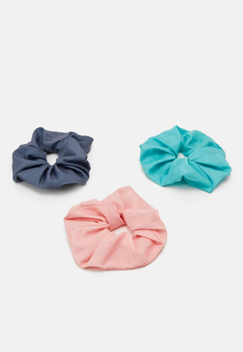 Weekday - SCRUNCHIE 3 PACK - Hair styling accessory - green/grey/pink
