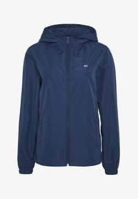 Tommy Jeans - CHEST LOGO WINDBREAKER - Summer jacket - twilight navy - 4