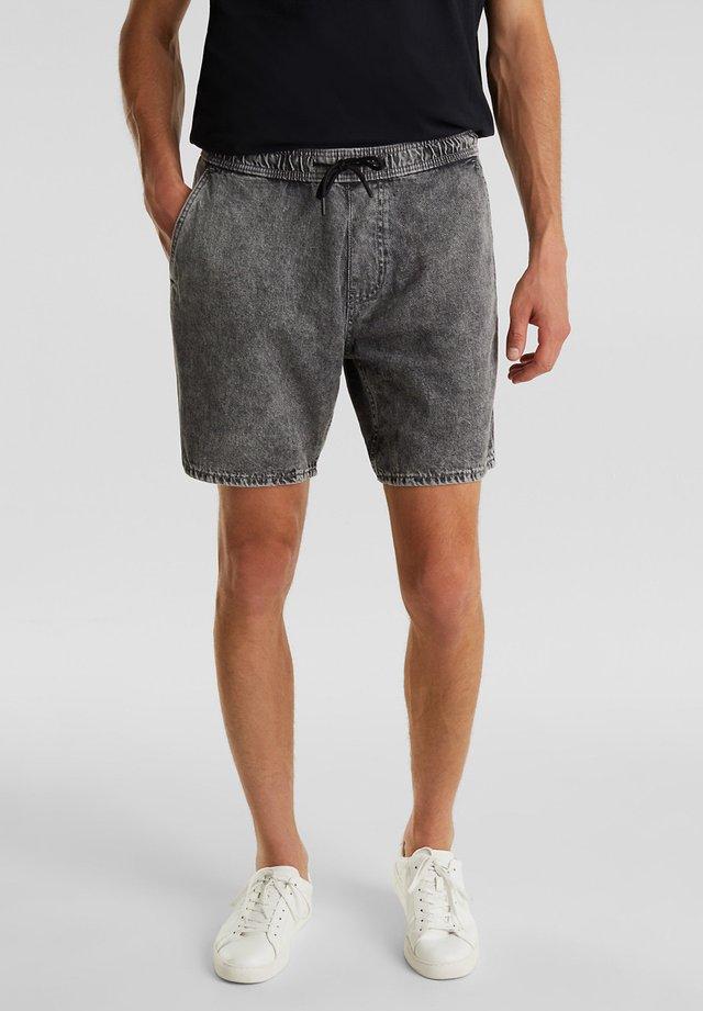 Denim shorts - grey light washed