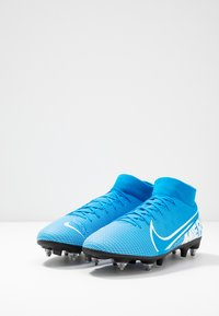 Nike Performance - MERCURIAL 7 ACADEMY SG-PRO AC - Screw-in stud football boots - blue hero/white/obsidian - 2