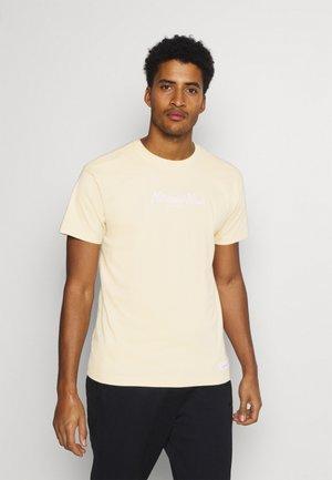 PINSCRIPT TEE - Print T-shirt - khaki