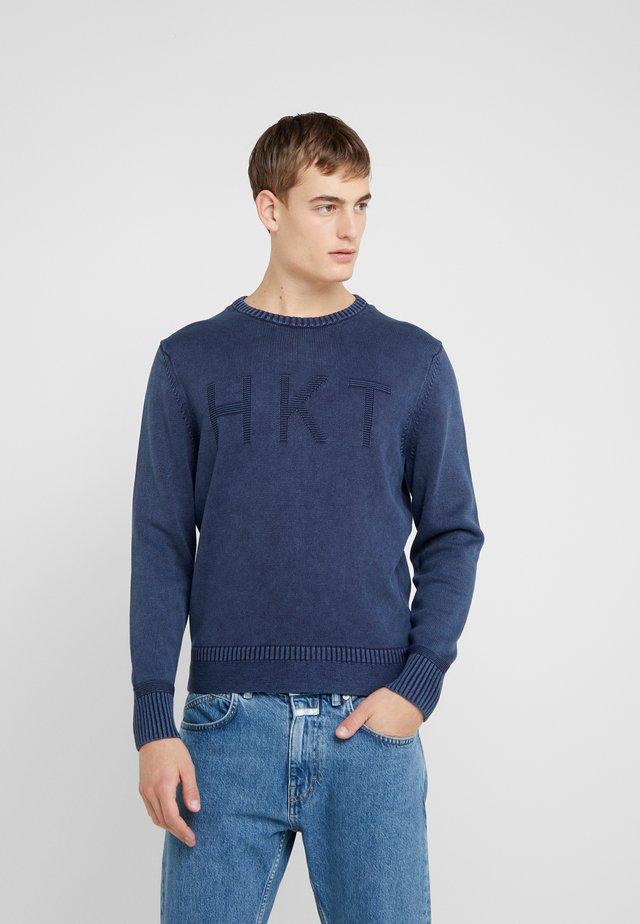 LOGO CREW - Pullover - navy