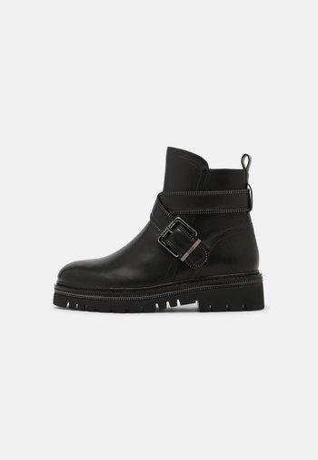 ZIP STREET - Kovbojské/motorkářské boty - black