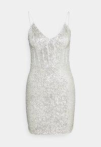 Missguided - SEQUIN MINI DRESS - Juhlamekko - silver - 0