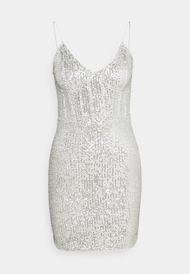SEQUIN MINI DRESS - Juhlamekko - silver