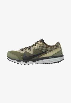 JUNIPER - Trail running shoes - tent/off noir/life lime/yukon brown