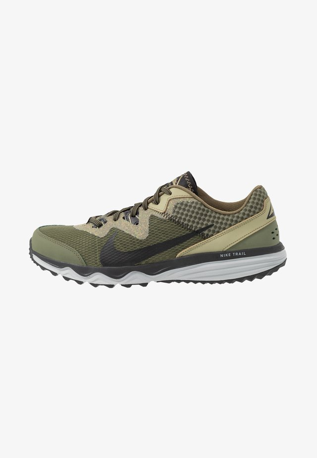 JUNIPER TRAIL - Zapatillas de trail running - tent/off noir/life lime/yukon brown