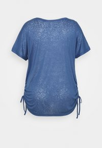 ONLY Play - ONPJIVAN CURVED V NECK BURNOUT CURVY - Print T-shirt - bijou blue - 7