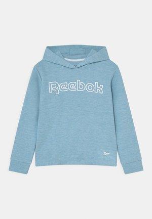 CROPPED HOODIE - T-shirt à manches longues - grey/aqua