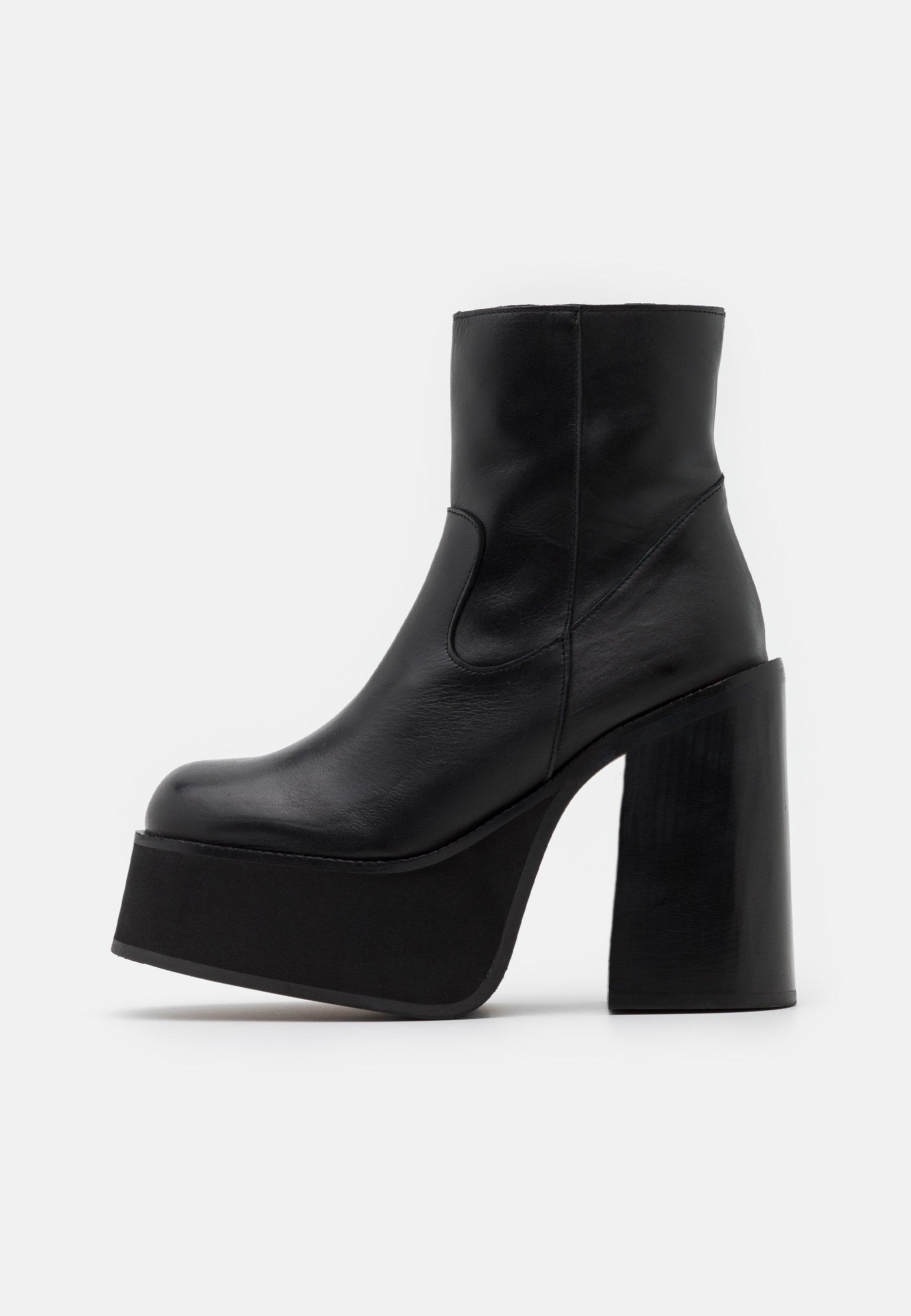 Kaltur Boot Platform - Plateaustiefelette Black/schwarz