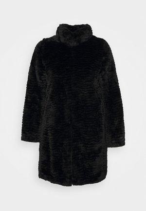 WAVE LONGLINE FUNNEL NECK COAT - Vinterfrakker - black