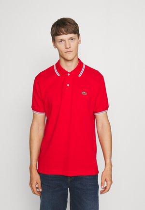 Polo shirt - rouge/blanc