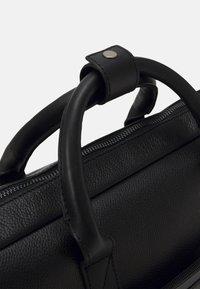 Zign - LEATHER UNISEX - Laptop bag - black - 3