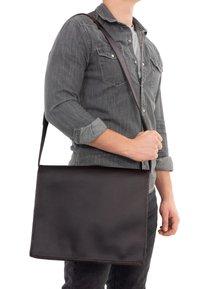 Gusti Leder - Laptop bag - dark brown - 1