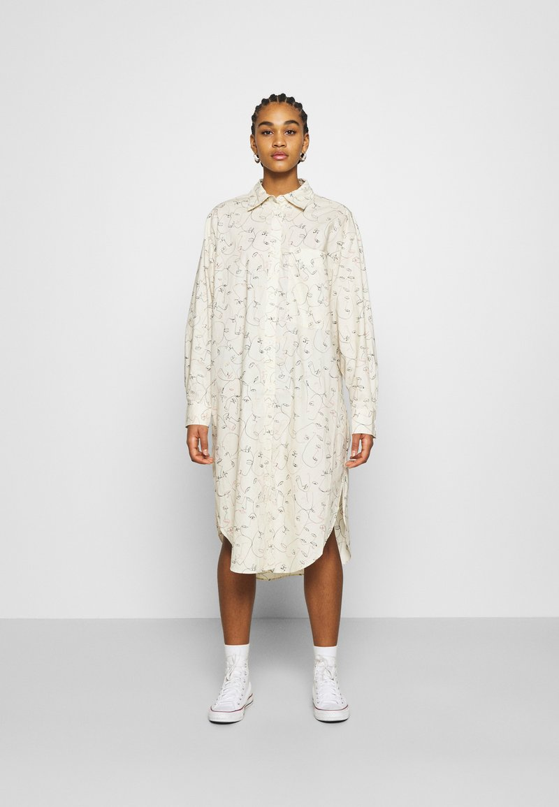Monki - CAROL DRESS - Košilové šaty - white
