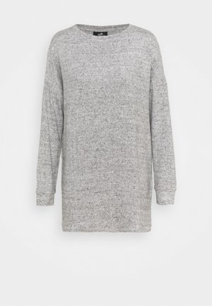 RUCHED SIDE CUT AND SEW TOP - Sweatshirt - grey