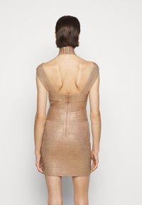Hervé Léger - BANDAGE MINI DRESS - Cocktail dress / Party dress - rose gold - 2