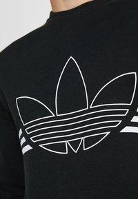 adidas Originals - OUTLINE PULLOVER - Collegepaita - black - 6