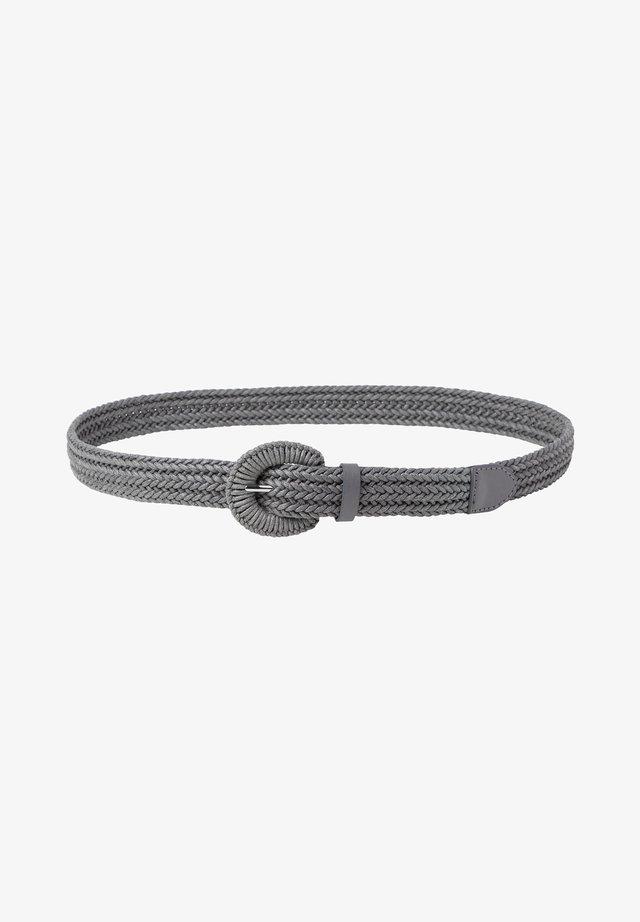 Braided belt - slate
