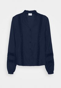 Vila - VIMOCAMIL  - Button-down blouse - navy - 4