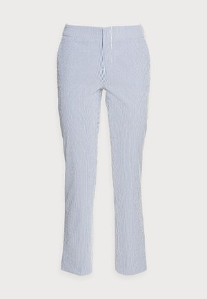Trousers - blue/white