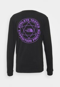 The North Face - DOUBLE SLEEVE GRAPHIC TEE - Long sleeved top - black - 1
