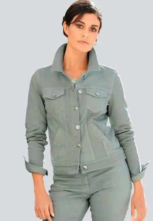 Denim jacket - salbeigrün