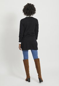 Vila - VIRIL OPEN CARDIGAN - Vest - black - 2