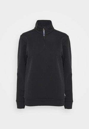 MONO AIR HALFZIP - Sweatshirt - true black
