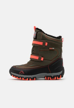 BONTE TEX UNISEX - Winter boots - army/coral