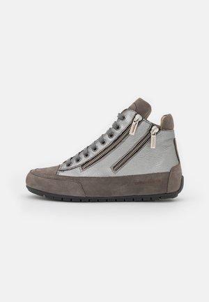 LUCIA ZIP - Sneakers hoog - gibson acciaio/tamponato antracite