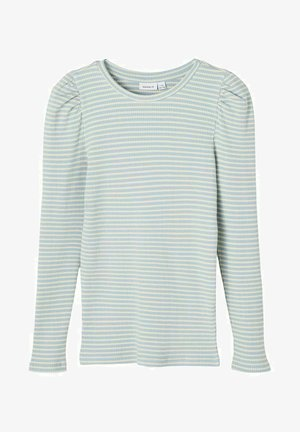 GESTREIFTES - Long sleeved top - dusty blue