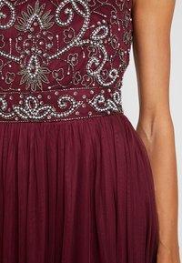 Lace & Beads - PAULA MAXI - Společenské šaty - burgundy - 6