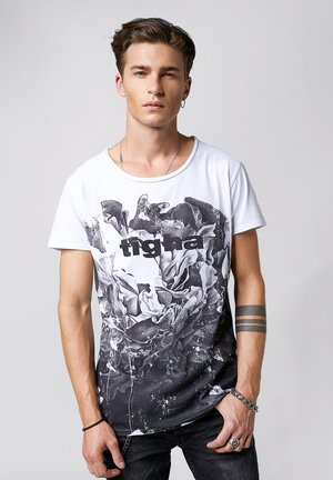 BLOSSOM WREN - Print T-shirt - white