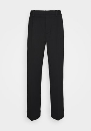 SINGLE PLEAT PANT - Kalhoty - black