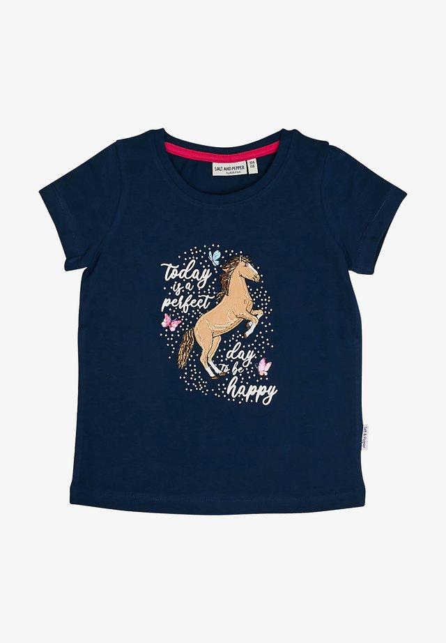 Print T-shirt - classic blue