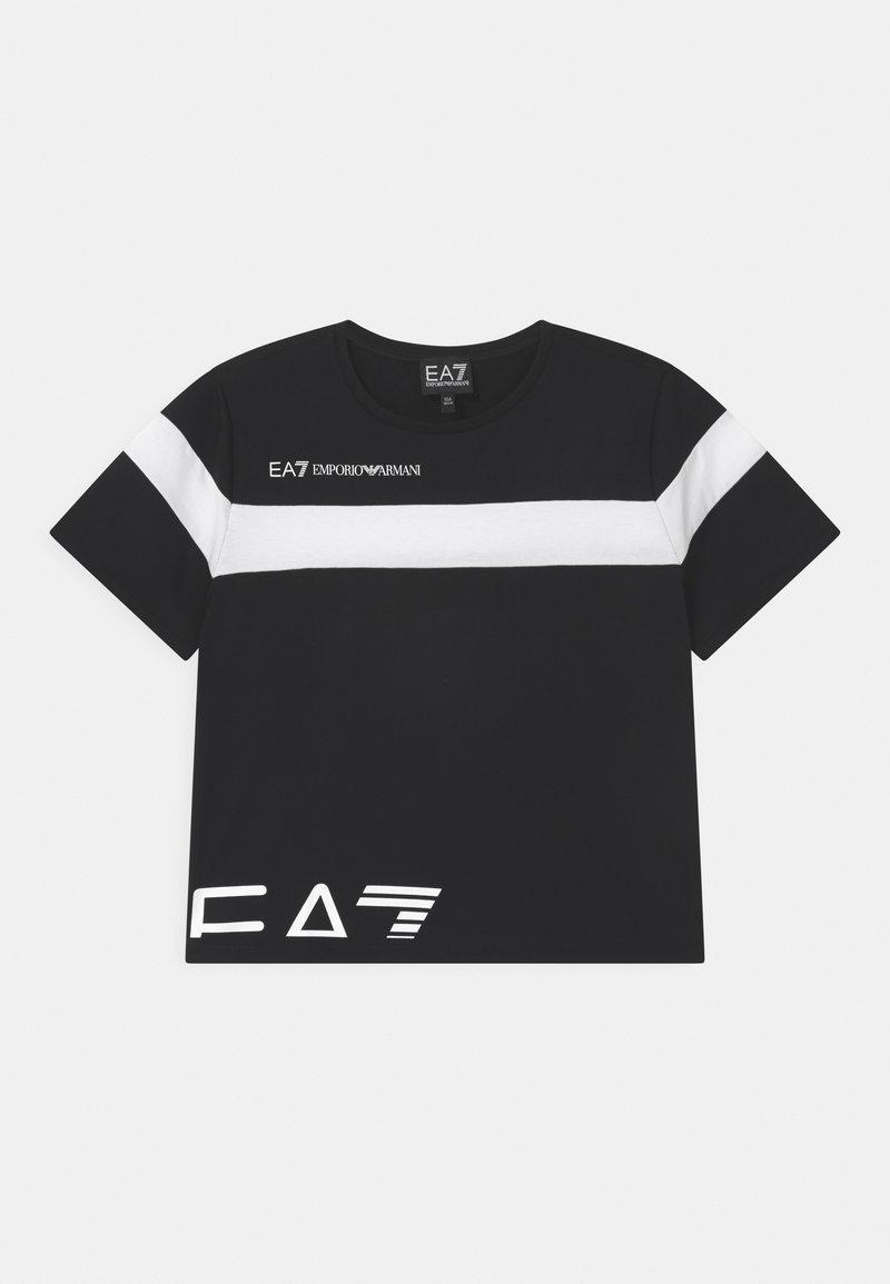 Emporio Armani - EA7 CROP  - Print T-shirt - black